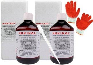 Hukinol - skuteczny zapachowy odstraszacz na dziki i zwierzynę płową 0,5l - zestaw 2 sztuk