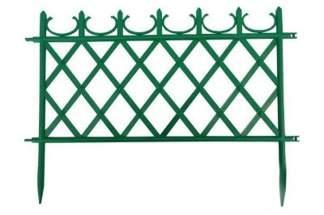 Ozdobny płotek ogrodowy MATEO 50cm zielony  - 1 sztuka