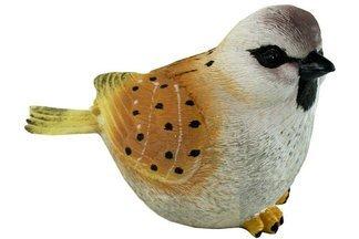 Ozdobny ptak ogrodowy D szaro-brązowy – figurka, dekoracja ogrodu