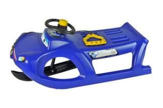 Plastikowe sanki z kierownicą ZIGI-ZET control ISZGC niebieskie