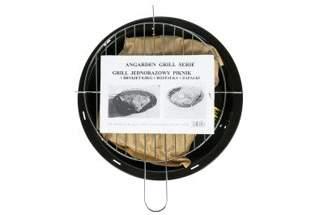 Turystyczny grill jednorazowy AR120B Piknik + brykiet 0,5 kg + rozpałka + zapałki