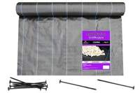 Agrotkanina czarna 3,2x100m (90g) + szpilki mocujące 19cm (50 szt)