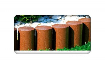 Palisada ogrodowa MAXI3 cegła z teksturą drewna