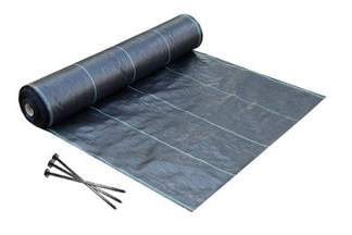 Agrotkanina czarna 4x25m (70g) + szpilki mocujące 19cm (50szt)