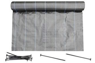 Agrotkanina czarna Agritella 1,1x100m 90g + szpilki mocujące 19cm 50szt