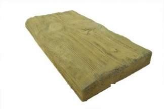Decha betonowa jasna 1/2 BDO -betonowe drewno ogrodowe