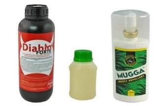 Diablo Forte – profesjonalny środek na odkomarzanie (komary, kleszcze i inne insekty) 1000 ml + utrwalacz do oprysku 250 ml + Mugga