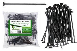 Długie szpilki plastikowe do mocowania agrotkaniny i agrowłókniny, 19cm (100 szt.)