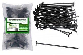 Długie szpilki plastikowe do mocowania agrotkaniny i agrowłókniny, 19cm (1000 szt.)