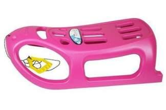 Duże plastikowe sanki dla dzieci Little Seal różowe z linką i rączką