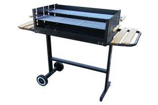 Duży, profesjonalny, metalowy grill z dwoma dużymi rusztami 11367