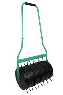 Duży walec ogrodowy (wał) do trawnika + kolce do aeracji trawnika 5 sztuk