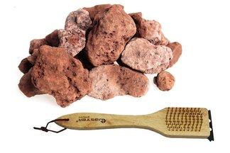 Kamienie lawy 6kg Karton z szczotką do grilla 3w1 26cm