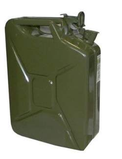 Kanister metalowy na benzynę z uszczelką 20 litrów