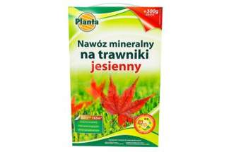 Nawóz mineralny na trawniki jesienny o ulepszonej formule 3kg PLANTA karton