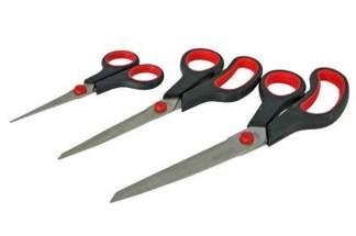 Nożyczki, zestaw nożyczek uniwersalnych - 3 sztuki