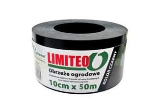 Obrzeże trawnikowe ogrodowe czarne, proste 10cm x 50m LIMITEO