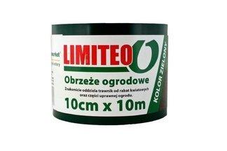 Obrzeże trawnikowe ogrodowe zielone, proste 10cm x 10m LIMITEO - 10 sztuk