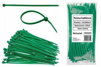 Opaski kablowe czarne 3,6x200mm (100 szt.)