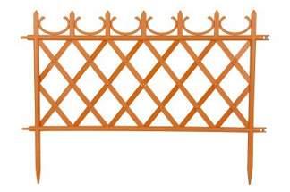 Ozdobny płotek ogrodowy MATEO 5m (50cm x 10sztuk) terakota