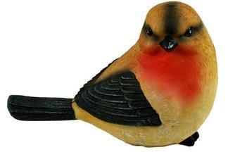 Ozdobny ptak ogrodowy A w ciepłych odcieniach - figurka, dekoracja ogrodu