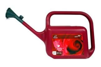 Plastikowa konewka czerwona Hagsen Trapezium 14l