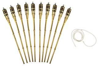 Pochodnia bambusowa 90cm 10szt + Knot okrągły do pochodni 8mmx1m na GRATIS
