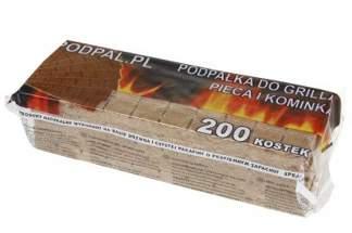 Podpałka szara 200 kostek (5szt tabliczek po 40 kostek)