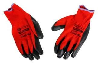 Rękawice ochronne ogrodowe powlekane lateksem PERFECT GRIP RED - rozmiar 9
