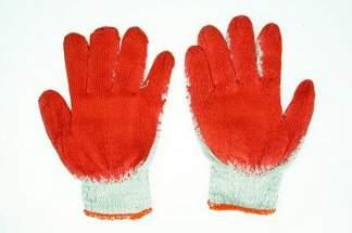 Rękawice robocze WAMPIRKI L czerwone (50 par)