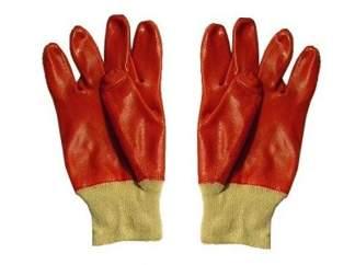 Rękawice robocze, gumowe, oblewane PCV, rozmiar uniwersalny (1 para)