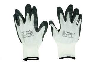 Rękawice robocze nitrylowe 8 szare 120 par
