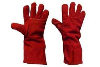 Rękawice spawalnicze z dwoiny bydlęcej, czerwone, rozmiar 10 (1 para)