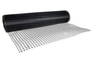 Siatka rabatowa wzmacniana (kontenerowa, ogrodzeniowa) 1,2 x 25 m czarna K3