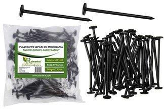 Szpilki plastikowe 12cm do mocowania agrotkaniny i agrowłókniny (100 szt.)