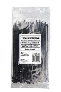 Trytytki - opaski zaciskowe kablowe czarne 2,5x100mm (100 szt.)