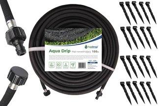 """Wąż ogrodowy nawadniający AQUA-DROP ½"""" 100m Bradas + szpilki mocujące 30 szt."""