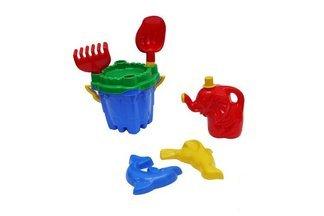 """Zestaw zabawek do piasku """"Zamek""""- mix kolorów, 7 elementów"""