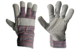 Zimowe rękawice robocze skórzane z dwoiny bydlęcej, ocieplane kożuszkiem RDBOA
