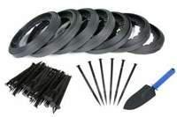 Obrzeże trawnikowe ogrodowe czarne 40mm x 70m Elasteo + 210 kotew + GRATIS