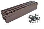 Zestaw obrzeży ogrodowych (trawnikowych) 8 szt. Bordeo R3 45mm x 1m – kolor brązowy + 20 kotew