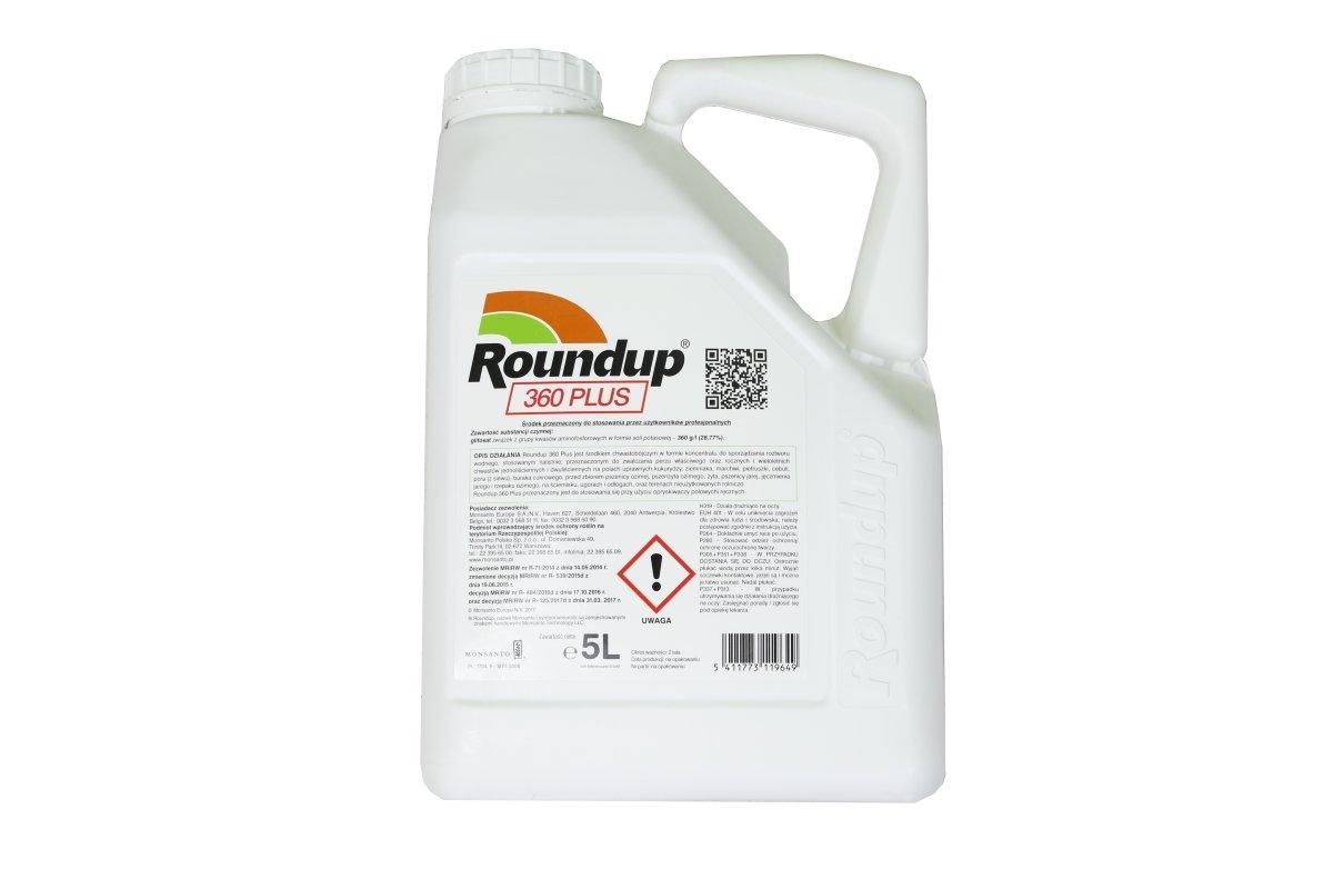 roundup 360 plus 5l rodek chwastob jczy herbicyd na wszystkie rodzaje chwast w. Black Bedroom Furniture Sets. Home Design Ideas