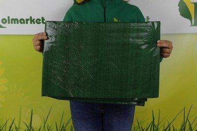 Gruba plandeka okryciowa zielona 12x18m 90gram