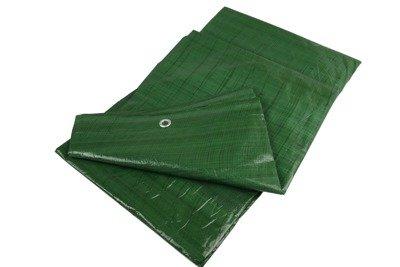 Gruba plandeka okryciowa zielona 8x10m 90gram