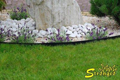 Grube obrzeże trawnikowe ogrodowe Strongeo proste, zielone 14cm x 15m