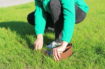 Obrzeże trawnikowe ogrodowe brązowe, proste 10cm x 10m LIMITEO