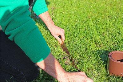 Obrzeże trawnikowe ogrodowe brązowe, proste 20cm x 10m LIMITEO