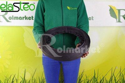 Obrzeże trawnikowe ogrodowe czarne 40mm x 60m Elasteo + 180 kotew + GRATIS