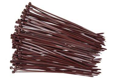 Opaski kablowe brązowe 3,6x200mm (100 szt.)