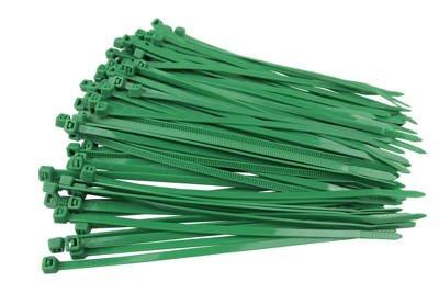 Opaski kablowe zielone 3,6x100mm (100 szt.)